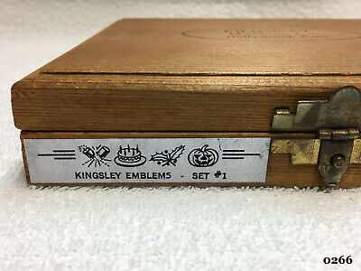 Kingsley Machine - 33 24pt. Emblems - Hot Foil Stamping Machine