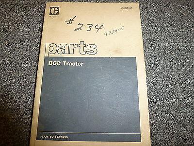 Caterpillar Cat D6c Crawler Tractor Dozer Parts Catalog Manual S N 47J1 47J2559