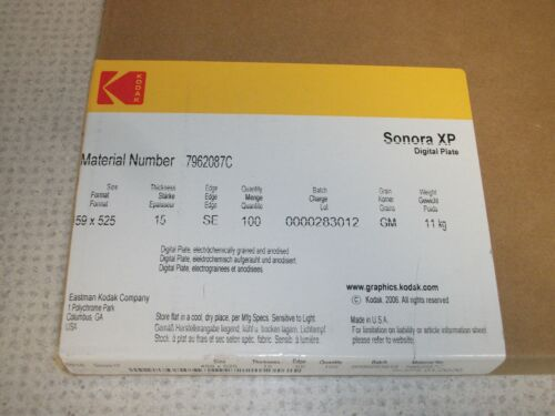 Kodak Sonora XP Digital Plates for Heidelberg Printmaster 52 Press-Box of 100...