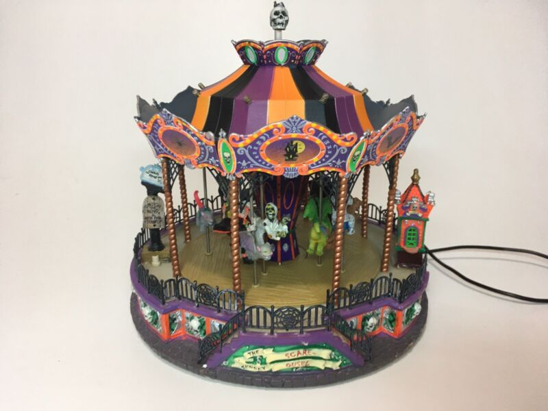 REAR Lemax Spooky Town Scare-Ousel 2007 Halloween Light Carousel FOR PART READ