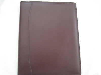 Premium Burgundy Bonded Leather Legal Size Pad Holder-pre-owned
