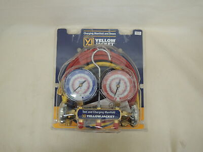Yellow Jacket Charging Manifold And Hoses 42004 3 18 Gauges R-404a R-410a