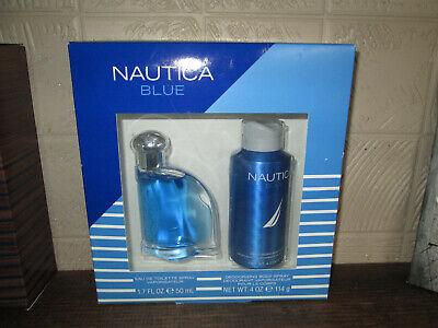 Men's Nautica Blue Gift Set 1.7oz Cologne Spray & .4oz Body Spray, NIB