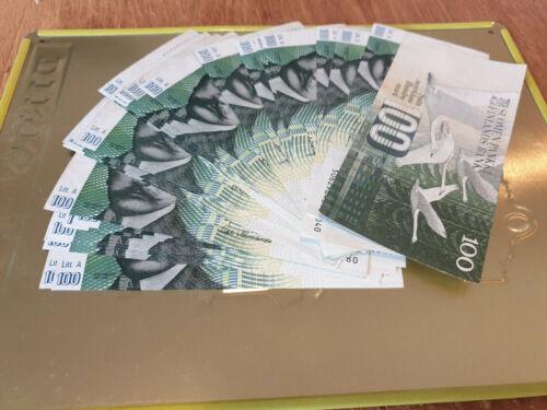 100 markkaa 1986 Finland banknote