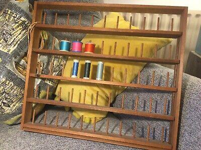 Vintage Cotton Reel Storage Rack