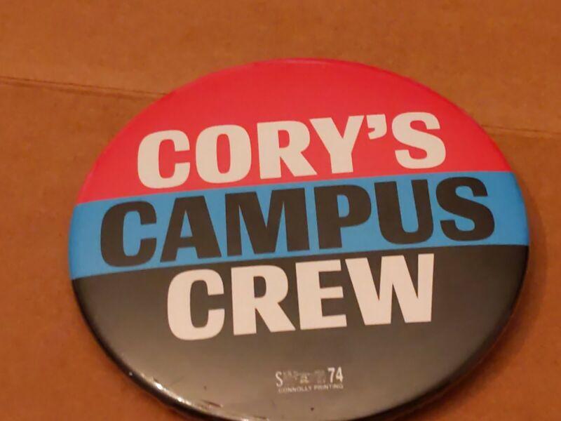 2020 Cory Booker President Campaign Button PRIMARY Democrat CAMPUS CREW NJ
