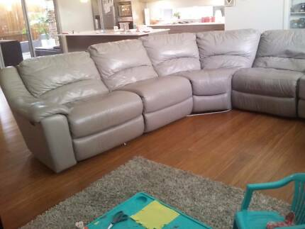 Large Full Leather Lounge Suite