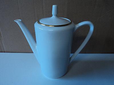 Kaffeekanne Kanne mit Goldrand, Kahla Könitz, Porzellan, gebraucht