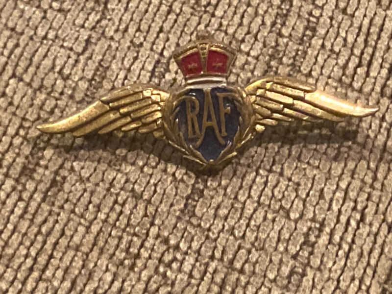 WWII RAF Royal Air Force Wings, Bundles for Britain, By: Monet 4 1/2 Centimeter