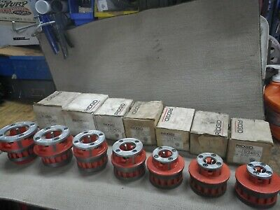 Ridgid 12r Pipe Dies Set For Pvc Pipe 7 Piece Set With Very Little Use.