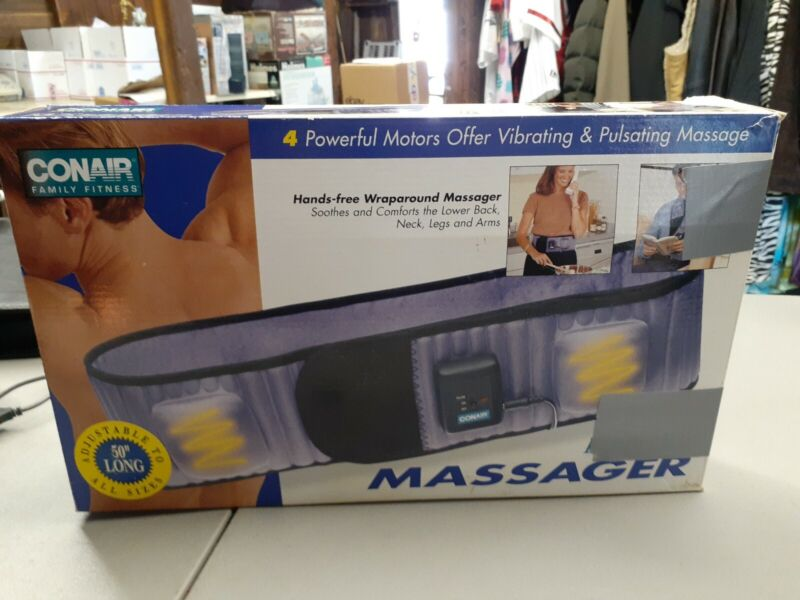 Conair Massaging Body Belt Hands Free Wraparound Massager 3 Position Option