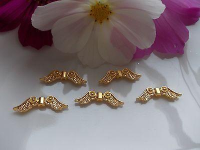 Großmenge Rabatt Engelsflügel Flügel gold 23x7x3mm Metallperle Spacer Perlen-DIY