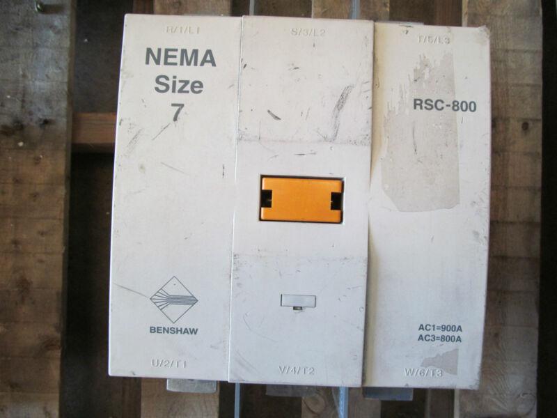 Benshaw RSC-800 NEMA Size 7 contactor