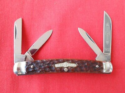 BOKER GERMANY 5452 4 BLADE CONGRESS STAG HANDLES KNIFE