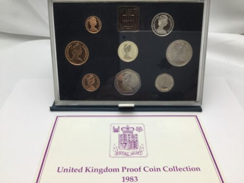 1983 United Kingdom ~ Proof Coin Collection ~ w/ Box and CoA