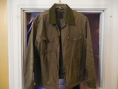 LEVIS x FILSON HUNTER TRUCKER JACKET XL OIL FINISH TIN CLOTH OLIVE
