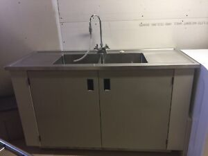 Stainless Steel Laundry/Garage Sink & Wall Cabinet