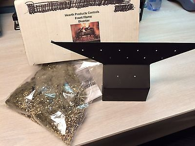 HPC Gas Log Front Flame Diverter & Glowing Embers - Vented Gas Log Accessories