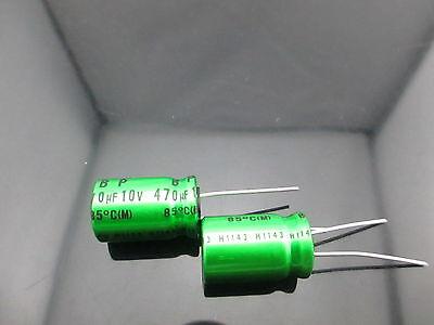 10pcs Japan Nichicon Muse Es Bp 470uf 10v 470mfd Audio Capacitor Caps
