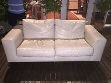 Leather Lounge Set (2 & 3 Seater) FANULI Newport Pittwater Area Preview