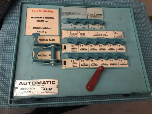 VTG AUTOMATIC VOTING MACHINE INSTRUCTIONAL MODEL 159 918 AVM CORP (NF)