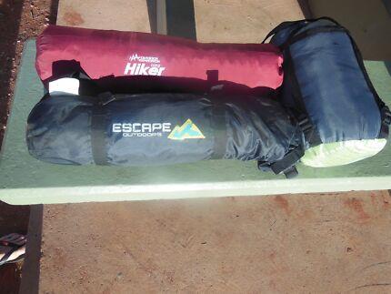 hiking tent with sleeping bag and air mattress Darwin CBD Darwin City Preview