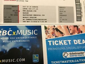 eagles concert ticket mosaic stadium