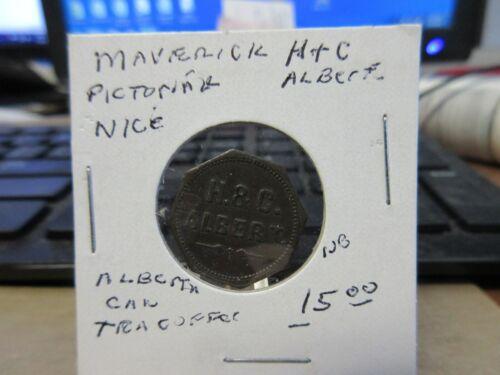 Canada Alberta?  / H. & C. Token Brass Octagonal 18mm