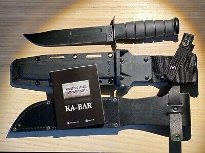 Ka-Bar USMC Knife with Kraton Handle, Kydex Sheath, 1095 Crovan Steel 7