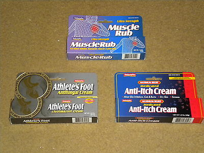 Muscle Rub Athletes Foot or AntiItch Creams