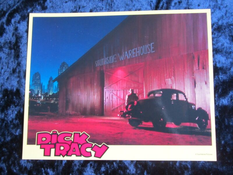 DICK TRACY lobby card # 2 WARREN BEATTY mini lobby card