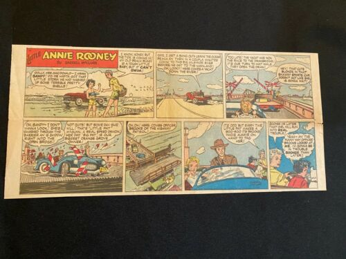 #06 LITTLE ANNIE ROONEY by Darrell McClure Sunday Third Page Comic Strip 1956