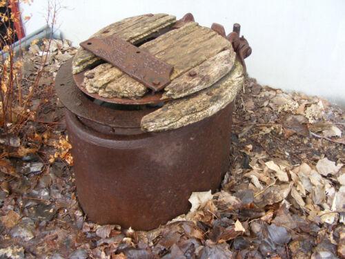 Antique toilet stool lid SHEFFIELD ALA. FLY PROOF