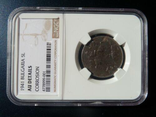 Bulgaria, Bulgarian 1941 5 Leva Coin, Certified NGC AU Details