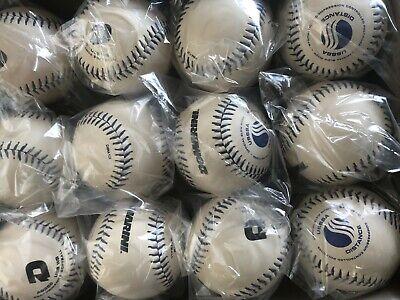 5 Dozen New White Demarini and Diamond Red Flyer Slow Pitch Softballs 11 inch