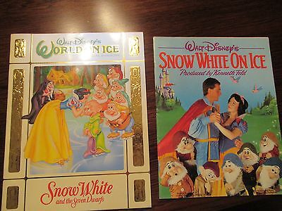 WALT DISNEY'S WORLD ON ICE /TWO PROGRAMS -1986 & 1996 / EXCELLENT USED CONDITION