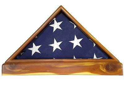 AROMATIC CEDAR VETERAN MEMORIAL FLAG DISPLAY CASE 5X9 US MILITARY FUNERAL BURIAL (Us Flag Display Case)