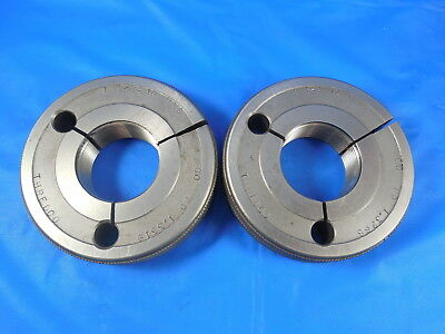 1 38 16 Uns Thread Ring Gages 1.375 Go No Go P.d.s 1.3319 1.3268 Inspection