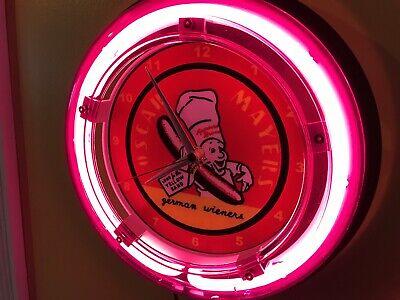 Oscar Mayer Weiner Meats Butcher Diner Kitchen Advertising Neon Wall Clock Sign