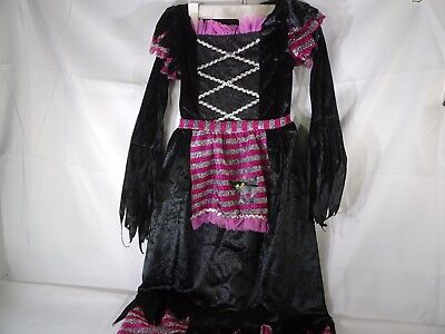 Disguise Girls Fairytale Child Witch Costume 4-6x Dress ONLY - Fairytale Witch Costume