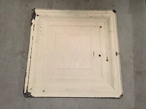 TIN CEILING TILE PANEL - ANTIQUE ARCHITECTURAL SALVAGE VINTAGE