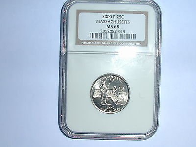 Click now to see the BUY IT NOW Price! 2000 P 25C MASSACHUSETTS STATE QUARTER NGC MS 68