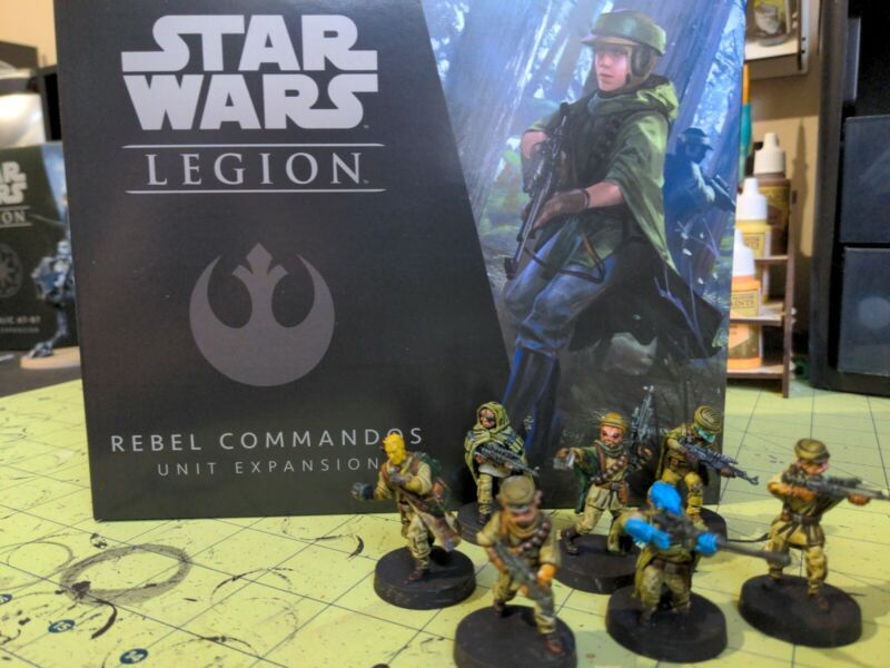Star Wars: Legion - Rebel Commandos Unit Expansion Custom PAINTED