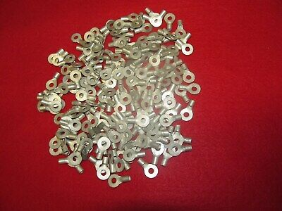 Lot Of 200 Amphenol 12-10 Awg 10 Stud Ring Terminal Plate Copper. Ea Samped Amp