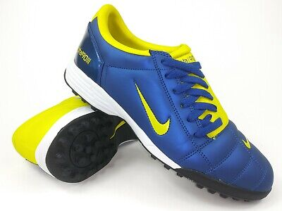 Nike Mens Rare Total90 lll TF Turf Yellow Blue 308233-471 Vintage Soccer Shoes (Total 90 Soccer)
