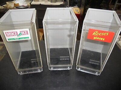 Lot Of 3 Vendstar 3000 Candy Canisters Candy Vending Machine Pieces