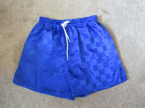 NEW BOLA Royal Blue Youth Large Nylon YL Vintage CHECKERBOARD Soccer shorts