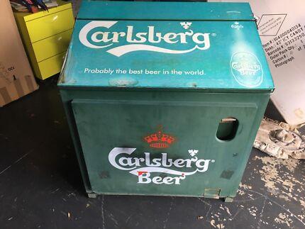 Carlsberg Beer Metal Ice Chest Cooler