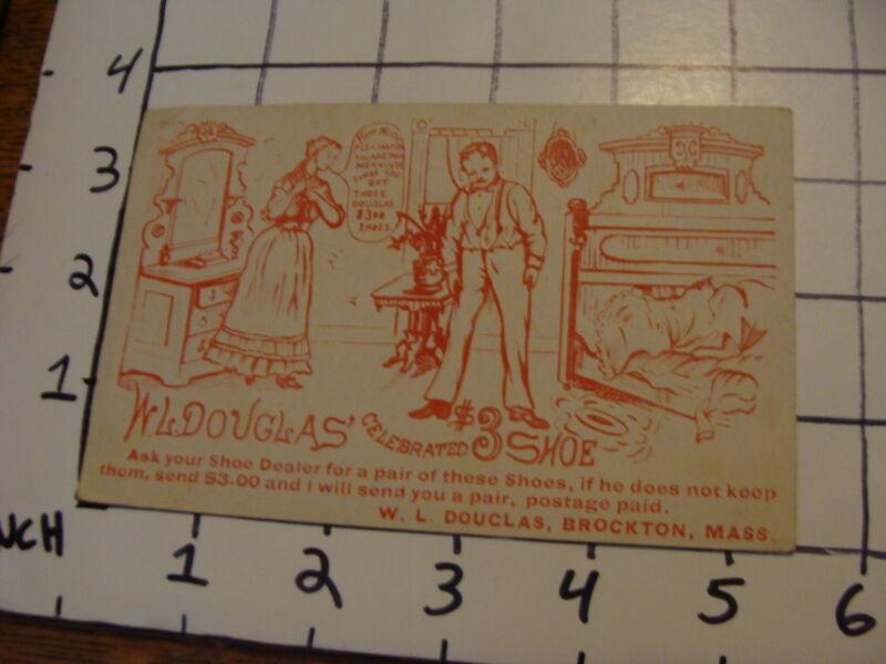 Vintage advertising: W.L. Douglas celebrated $3.00 Shoe trade card