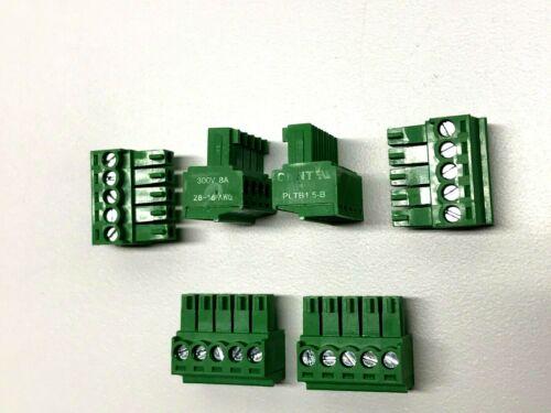 5 pin-3.5mm Phoenix Contact Connector Screw Terminal Block Phoenix Plug Set of 6